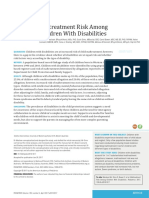 Maltreatment Risk Among Children With Disabillities