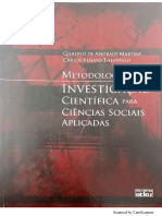 Metodologia Da Investigação Científica Para Ciências Sociais Aplicadas MARTINS
