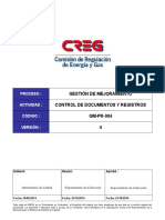 GM-PR-004 Control de Documentos y Registros
