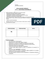 Evaluacion Unidad i Parte II Lenguaje 4 Basico