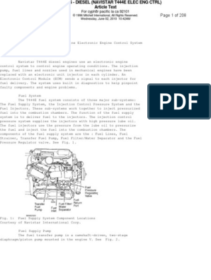 t 444 e pdf fuel injection computer data storage Navistar 444e Engine Diagram diesel high pressure oil pump