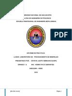 74997160 Informe de Procesamiento de Minerales