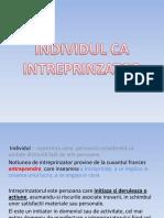 Individul CA Intreprinzator