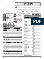 Samurai EUA sheet for D&D 3.5