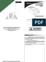 Manual Banho Maria a Gas Alfatec