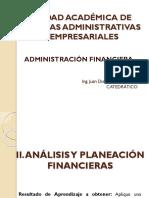 II. Análisis y Planeación Financieras
