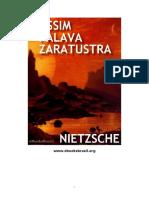 7274942 Friedrich Nietzche Assim Falava Zaratustra