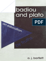 A. J. Bartlett - Badiou and Plato an Education by Truths