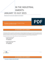 REPORT Industrial Court Judgments January - July 2015