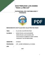 Monografia Flujo de Caja Proyectado