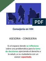 Pre y Post Consejeria prueba de VIH