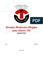 Teme Diplome Master - Drama Moderne Shqipe Pas Viteve 90'