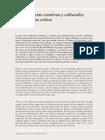 Las Industrias Creativas y Culturales, Una Historia Crítica (Justin O'Connor)