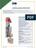 Ultrasonic Welding Actuator UWA 25-100