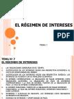 Régimen de Intereses, (BCR, Etc.)