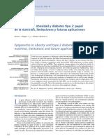 2. Epigenética en Obesidad y Diabetes Tipo 2 Papel de La Nutrición