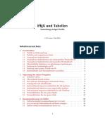 LaTeX Tabellenbefehle