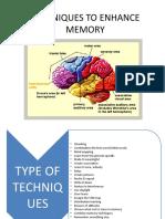 Techniques to Enhance Memory