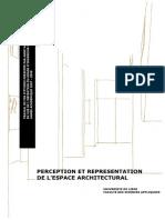 TFE-Perception Et Representation de l Espace Architectural