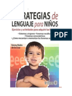Balan Emma RESUMEN Estrategias de Lenguaje Para Ninos