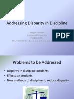 addressing disparity in discipline