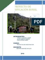Proyecto de Electrificación Rural