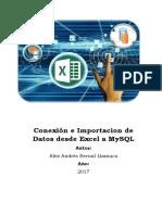 Conexión e Importacion de Datos Desde Excel a MySQL