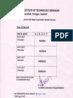 PHD Datesheet