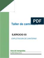 Taller - Explotacion de Canteras - Upla