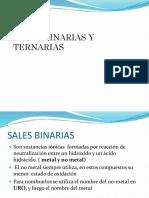 Sales Binarias y Ternarias
