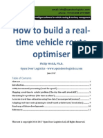 How to Build a Real Time Vehicle Route Optimiser