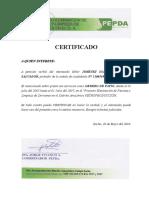 Certificado PEPDA RULY