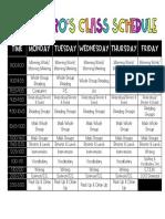 class schedule 17-18