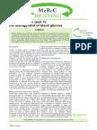 Management of Blood Glucose