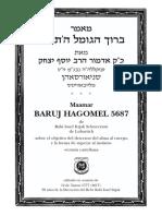 BARUJ HAGOMEL 5687