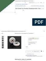 22pack Impresora Delta Kossel Cnc Ruedas Desplazamiento 7mm - $ 777