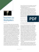 Teachers as Multipliers