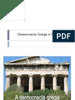 Democracia Grega e Moderna