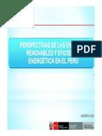 Perspectivas de Las Energías Renovables y Eficiencia Energética en El Perú