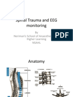 Spinal Trauma and EEG Monitoring