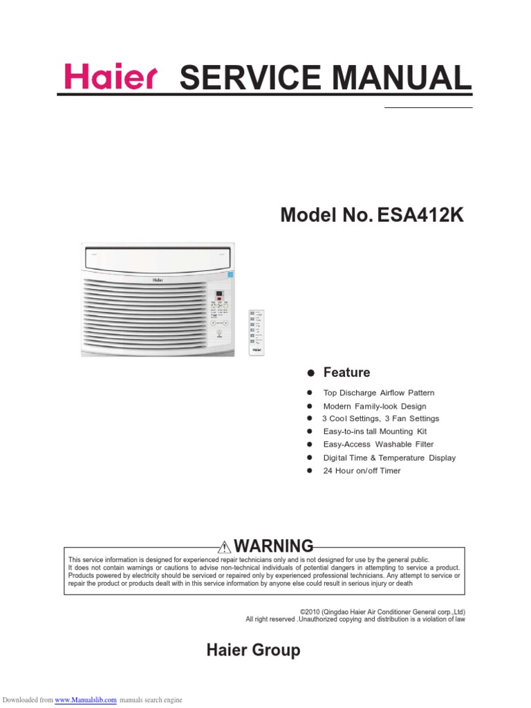 Aire Acondionado de 12KBTU ESA412K   Air Conditioning   Window on
