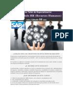 Taller de Especialización SAP HR - Recursos Humanos