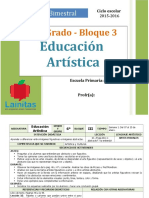 Plan 6to Grado - Bloque 3 Educación Artística (2015-2016).doc