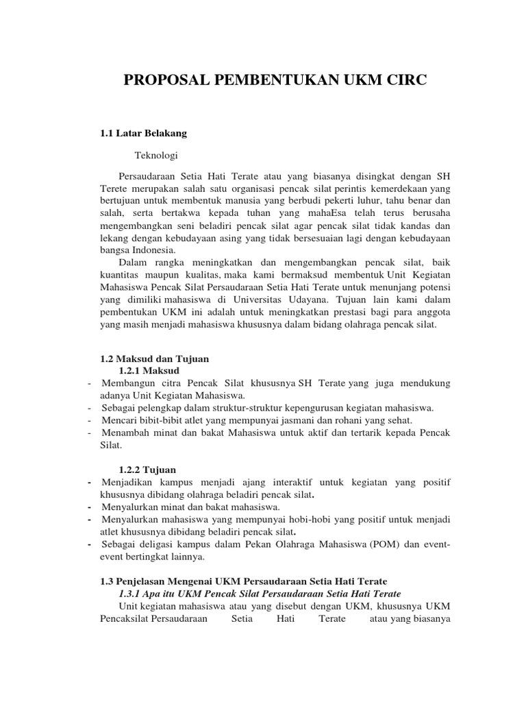 Proposal Pembentukan Ukm Circ