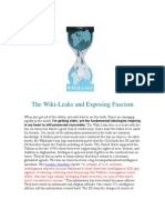 The Wiki-Leaks and Exposing Fascism