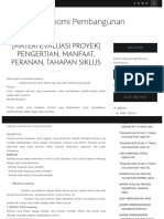 [Materi Evaluasi Proyek] Pengertian, Manfaat, Peranan, Tahapan Siklus - Ekonomi Pembangunan