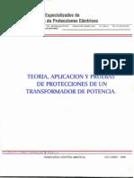 Teoria, Aplicacion y Pruebas de Protecciones de Un Transformador de Potencia