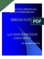 Capitulo 3 Hidraulica Fluvial