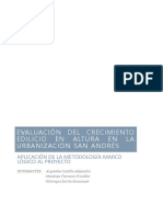 Analisis de Casos crecimiento edilicio en santiago