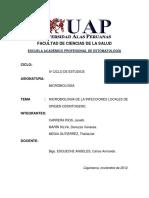 Microbiologia de La Infecciones Locales de Origen Odontogeno